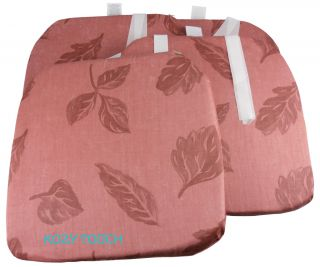 Deluxe Shaped Dining Chair Seat Cushion Pad Pads with Ties UK Made If