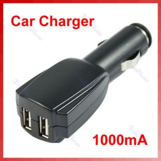 Mini Dual 2 Port USB Car Charger Adapter for iPod  iPhone 4G 3G 3GS
