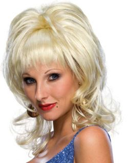 Womens Blonde Country Singer Cowgirl Dolly Parton Wig