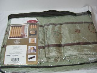 Duck River 16pc Bathroom Bath Ensemble Set Fancy Flower Sage Chocolate