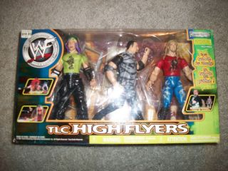 WWE WWF JEFF HARDY BUBBA RAY DUDLEY EDGE TLC HIGH FLYERS JAKKS 2001