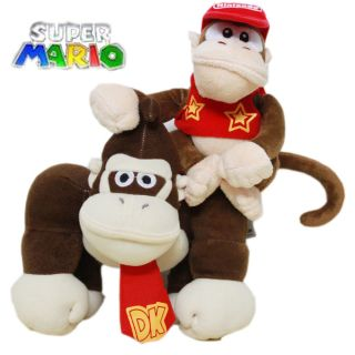 Super Mario Diddy Donkey Kong Plush Toy Stuffed Animal Monkey cute