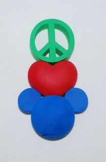 Disney Peace Love Mickey Car Antenna Topper New