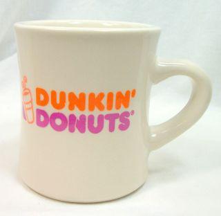 Dunkin Donuts White Ceramic Coffee Mug Cup New Logo Dunkin Donuts