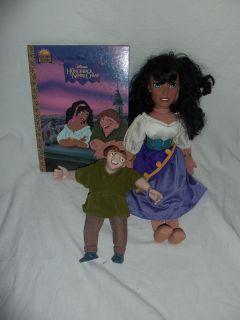Disneys Hunchback of Notre Dame Lot Quasimodo Esmeralda Doll Book