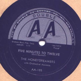 Doo Wop 78 RPM Record Honeydreamers Five Minutes to Twelve