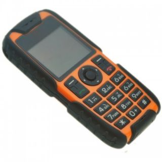 Unlocked Dual Sim Dual Bands FM Waterproof Cell Phone M8 Orange