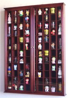 108 Double Door Shot Glass Shooter Display Case Cabinet