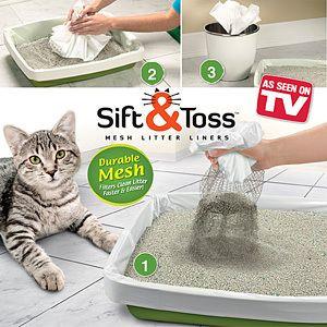 28 PC Sift Toss Mesh Disposable Trash Cat Litter Box Liner N as Seen
