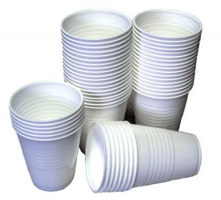 Disposable White Plastic Drink Cups Birthday Party Wedding Occasions 7