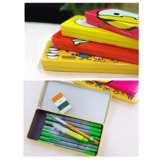ZZAPA DUCK Tin Rectangular Metal Pencil case,pens box_useful school