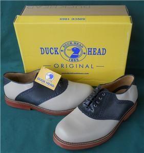 Duck Head Original Mens Sandtrap Bone Navy 13 E3 w Dress Shoes