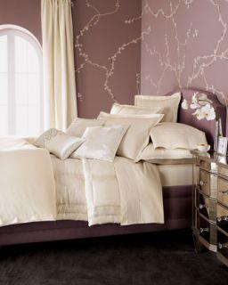 Donna Karan Modern Classic White Gold Full Queen Quilt