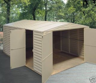 Duramax Vinyl Garage Shed Building 10x21 w Floor
