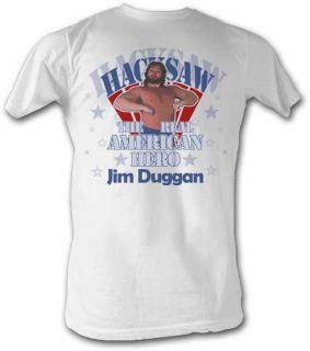 Hacksaw Jim Duggan Hero White T Shirt New