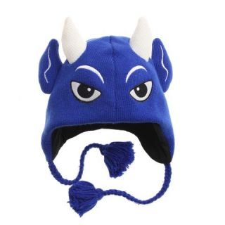 New Duke Blue Devils Winter Ski Pilot Laplander Hat Gift NWT Mascot