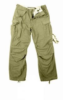 Vintage Olive Drab Military M 65 Field Pants Army Durable Pants