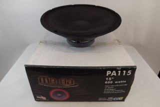 Mr DJ High Performance 15 inch 600 Watt Powered Subwoofer Sub Woofer