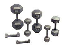 usa sports hex dumbbells 5 to 50 pound lb set with troy vtx rack