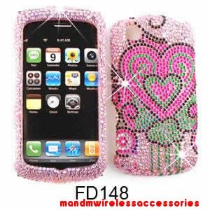 Pink Hearts Light Pink Phone Bling Case LG Encore GT550