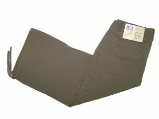 Dockers Stretch Cropped Cargo Capri Chocolate Ö