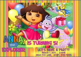 Dora The Explorer Custom Birthday Party Invitation