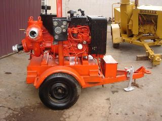 Pump Water Pump Diesel Engine Trailer Mounted Wacker Irrigation