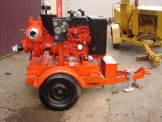 Pump Water Pump Diesel Engine Trailer Mounted Wacker Irrigation