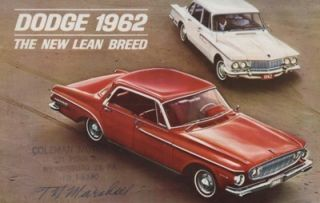1962 Dodge Dart Lancer GT Sales Brochure Book