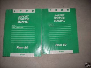 1989 Dodge RAM 50 RAM50 Truck Service Repair Shop Manual Set 89