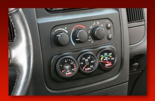 Banks 3 Gauge Dash Pod 2003 05 Dodge RAM Cummins 5 9L