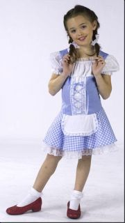 Dorothy Child Toddler oz Blue Dress Girls Costume New
