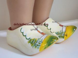 Doll Clothes Fits American Girl Kirsten Wooden Shoes