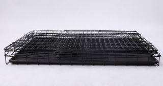 x18x21 2 Door Folding Pet Dog Metal Crate Cage Kennel w Feet