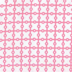 Dottie Grid Fabric Michael Miller in Pink and White
