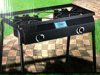 Double Gas Burner Stove Electric Start Portable Camping Outdoor