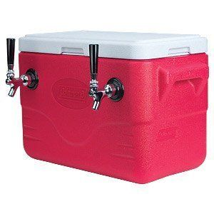 Double Faucet Draft Beer Jockey Box 28 Quarts 2 50 ft Stainless Steel