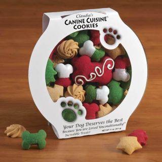 New Xmas Gourmet Santa Dog Treats Bones Cookies