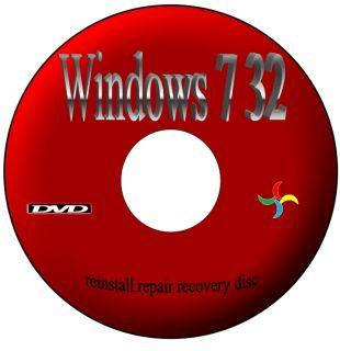 WINDOWS 7 X32 HOME PREMIUM REPAIR BOOT DVD DISC RECOVERY FIX PC