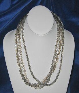 Donna Dressler Sterling Silver Champagne Swarovski Crystal Necklace