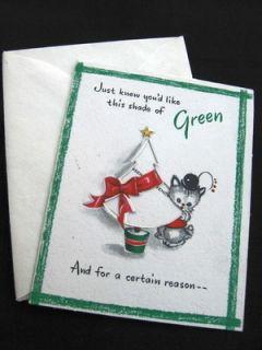 vintage 1947 Hallmark Christmas tree dollar money holder gift card