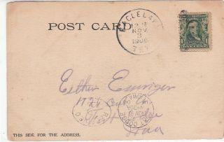 EAGLE LAKE TEXAS tx Fishing Pavilion  Old 1906 UDB PC