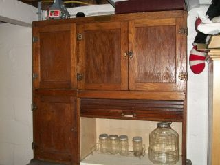Antique Hoosier Cabinet Racks Glassware Stainless Shelf Pick Up Cent