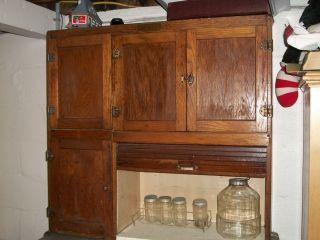 Antique Hoosier Cabinet Racks Glassware Stainless Shelf Pick Up Cent