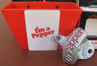 Dr Pepper Soda Bottle Opener Card Bottle Cap Catcher  IM A Pepper