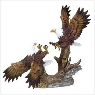 Porcelain Fighting Eagles Figurine Birds Figure Statue
