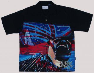 New Pink Floyd Hammer and Brick Wall Club Shirt Dragonfly