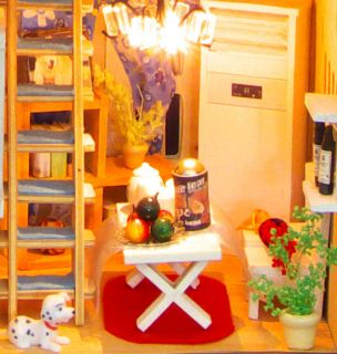 DIY 3D Ledlight European Style House Christmas Gift