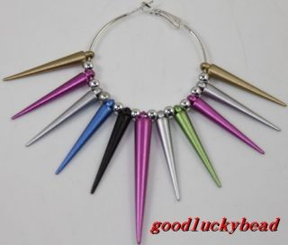 mixed Acrylic jewelry Lots Basketball Wives Earrings Spikes Charm