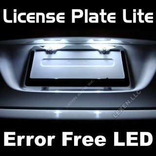 LED E WHITE 2X ERROR FREE LICENSE PLATE TAG LIGHT BULB 36MM FESTOON